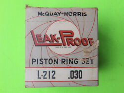 1934 1935 1936 1937 1938 1939 1940 Nors Plymouth Piston Rings 3 1/8 .30 O/s