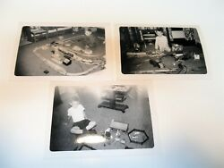 Vintage Photographs 1950and039s Ear Boy With Lionel Train Sets Lot Of 3 Are 5 X 3.5