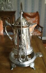 Derby Silver Co. Coffee Pot With Tilt Stand