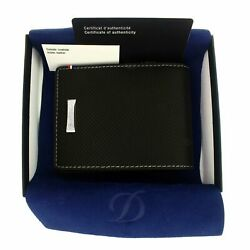 St Dupont Defi Leather Perforated Wallet Business Credit Card Holder 170401dc