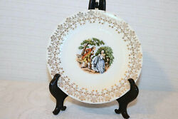 Royal China Minuet 22k Gold Colonial Couple 6 3/8 Bread And Butter Plates 3