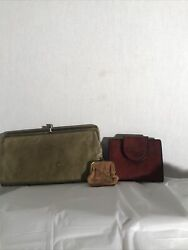 Vintage Hobo Wallet Amity Wallet And Coinpurse With Surprise Inside Lot $15.00