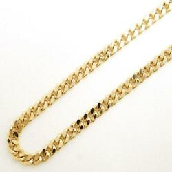18k Yellow Gold Necklace About50cm Kihei 2side About29.8g Free Shipping Used