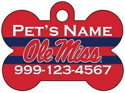 Ole Miss Rebels NCAA Pet Id Dog Tag Personalized for Your Pet $13.97