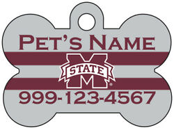 Mississippi State Bulldogs NCAA Pet Id Dog Tag Personalized for Your Pet $16.47