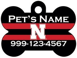Nebraska Cornhuskers NCAA Pet Id Dog Tag Personalized for Your Pet $13.97