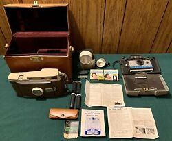2 Antique 1950s Polaroid Land Automatic Cameras Model 210 The 800 And Accessories