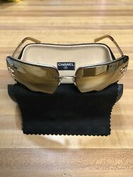 AUTHENTIC CHANEL SUNGLASSES 4092 B W NEW POLORIZED LENSES $405.00
