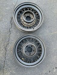 1930andrsquos Budd 16 Wire Spoke Wheels 5 Lug 4 1/4andrdquo