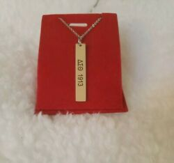 New Customized Silver Delta Sigma Theta 18 Inch Necklace 2 Sides