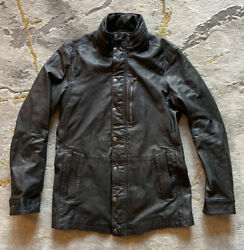 John Varvatos⚡️{995} Luxe Black Leather Jacket Size Small