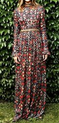 $1500 Tory Burch Embellished Brocade Leanne Maxi Long Gown Dress IT 42 US 6 $489.00