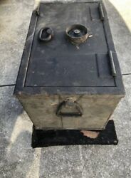 Vintage Mosler Safe Train Stage Coach Strong Box U.s. Late 1800's Early 1900's