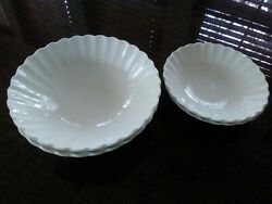 J And G Meakin England Classic White Set 4 Bowls 2 Fruit/dessert And 2 Soup/cereal