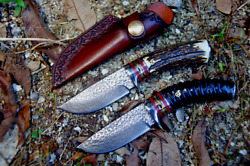 Drop Point Knife Hunting Wild Tactical Survival Hand Forged Vg10 Damascus Steel