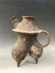 Chinese Neolithic Majiayao Culture Colour Pottery Milk Breast Tank Pot