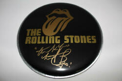 Charlie Watts Signed Autograph 10 Drumhead - Rolling Stones Black And Blue Acoa
