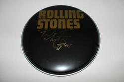Charlie Watts Signed Autograph 12 Drumhead - Rolling Stones Rock Legend Acoa