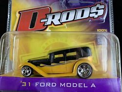 Jada Toys D-rods 2006 Wave 2 31 Ford Model A Super Rare Yellow/black 164