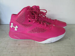 Mens Under Armour UA Clutchfit Drive Charged Pink Basketball Shoes Size 10 $80.00