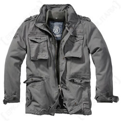 Brandit Military Cargo M65 Giant Hooded Jacket Coat - Charcoal Grey - All Sizes