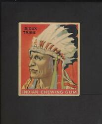 1933 Goudey Indian Gum 120 Series 288 Low Skip Sioux Tribe No Creases