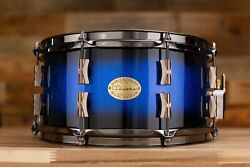 Noble And Cooley 13 X 6.5 Cd Maple Snare Drum Blue Sparkle Burst Gloss With Black