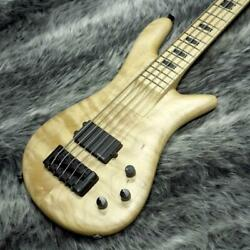 Used Spector Euro Rebop Mm5 Natural 5 String Bass 35 Inch Scale W/gb Free Ship