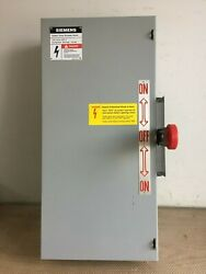 Siemens Nf323dtk 100 Amp 240 Volt 3 Phase N/fused Double Throw Transfer Switch