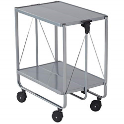 Leifheit Storage Wheels Silver 74291 Fold Up Utility Storage amp; Service Trolley