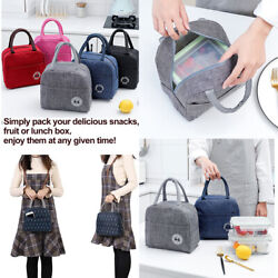 US Portable Insulated Lunch Bag Bento Box Cooler Tote for Kids Adult Men Women $6.89