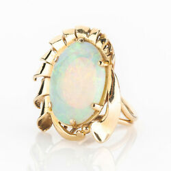 Vintage Ring 14k Gold With An Opal