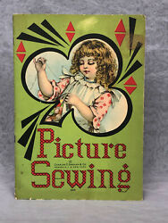 Picture Sewing Antique Childrens Book Activity Book Charles E Graham