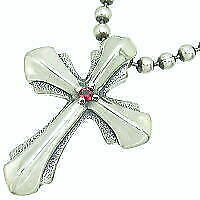 Bill Wall Leather Japanese Limited Chain Silver Cross Silver Pendant A6