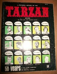 Tarzan Pictorial History Ray Lee Vernell Coriell 50 Year Jungle Superman 1966 Vf