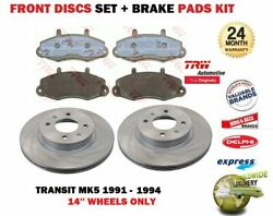 Pour Ford Transit Mk5 14and039and039 Roues 1991-1994 Neuf Avant Kit Disque Frein + Patins