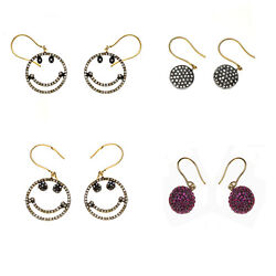 Diamond Pave Hook Earrings 925 Sterling Silver Gold Fashion Jewelry Womanand039s Gift