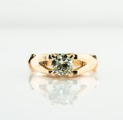 Diamond Solitaire Ring .70ct 14k Gold Vintage High Setting Engagement