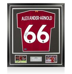 Trent Alexander-arnold Back Signed Liverpool 2019-20 Home Shirt In Classic Frame