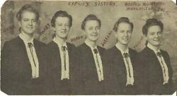 Professional Photograph Of The Eppley Sisters Gospel Quintette Manchester Pa 1st
