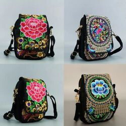 2 Colors Ethnic Embroidery Vintage Embroidered Canvas Bags Shoulder Messenger Ba $8.50
