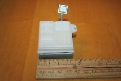 White Cash Register For Barbie And Other Dolls-drawer Pulls Open-used