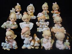T Precious Moments-rare-complete 12 Days Of Christmas Set All With Boxes