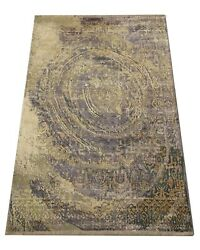 8x10 Oxidized Nepal Modern Rug Hand-knotted Wool And Silk Contemporary Carpet