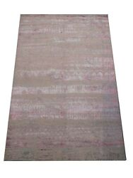 8x10 Oxidized Modern Rug Hand-knotted Wool And Silk Contemporary Carpet 8and039 X 10and0392