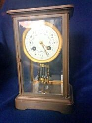 Japy Freres And Co. Crystal Regulator Clock France Ch.hour