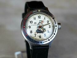 Vintage Watches Vostok Amphibia, Made In Ussr, 1980s, Military Watch.