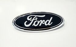 2005 2007 Ford F250 F350 Super Duty Front Grille BLACK Ford 9 Inch Emblem NEW
