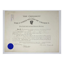 1904 Theodore Roosevelt And Robert Shaw Oliver Signed Presidential Military Appoin