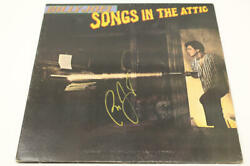 Billy Joel Signed Autograph Album Vinyl Record - Songs In The Attic, Piano Man